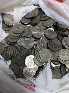 Old Singapore 50 cent coins