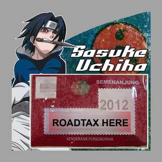 Road Tax Sticker - Sasuke Uchiha