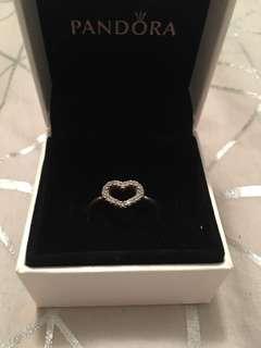Pandora Open Heart Ring