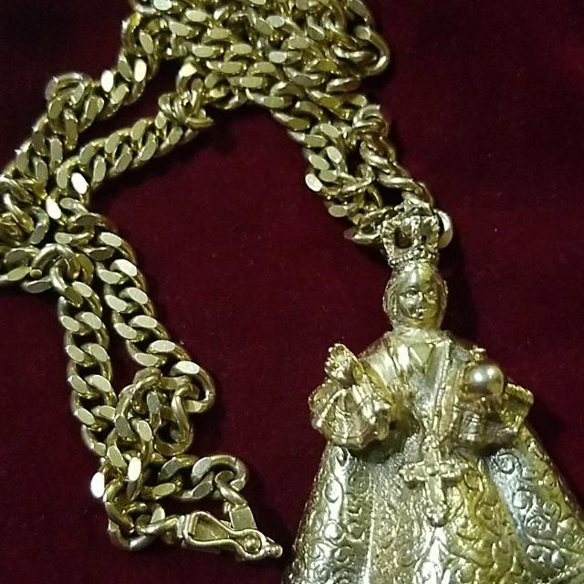 18k japan gold nino pendant with diamonds