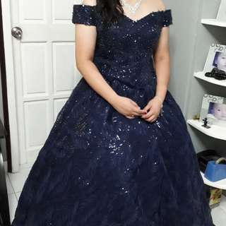 Ball Gown for Rent (Dark Blue)