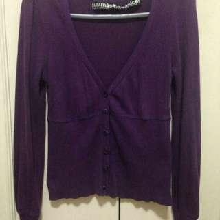 Zara purple cardigan