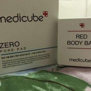MEDICUBE ZERO PORE PAD AND RED BODY BAR