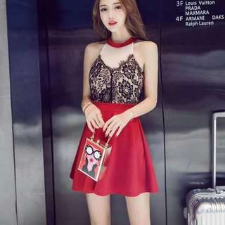💋Embroidered Lace Detail Elegant Dress