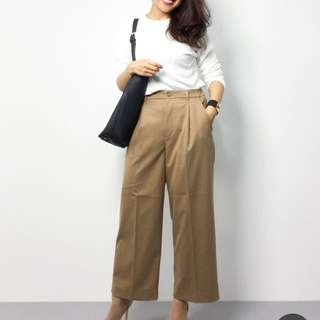 Global Work khaki wide pants