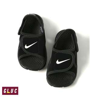 Nike Todler Sunray Adjust 4 Velcro Black White Original