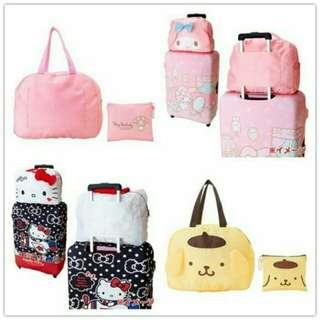 🚚 (全新現貨可pc)現貨美樂蒂 布丁狗折疊旅行包旅行袋卡通手提行李袋 行李箱