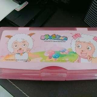喜羊羊 塑膠白板筆盒