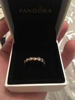 Pandora Filled with Love Silver and Gold Ring