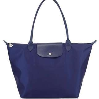 Preloved Authentic Longchamp Neo Large Tote in Navy