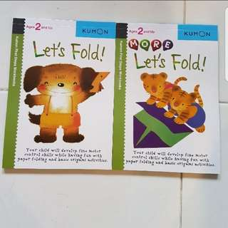 Set of 2 kumon First Step Workbook : Let's Fold