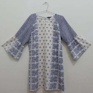 Executive Blue Tribal Mini Dress/Top