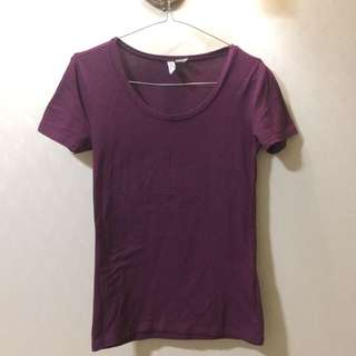 PRELOVED: H&M BASIC TSHIRT (REPRICE)