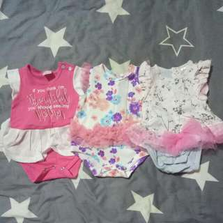 3 For $15 (0-3months Baby Dress)