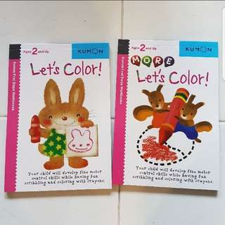 Set of 2 Kumon First Step Workbook : Let's color