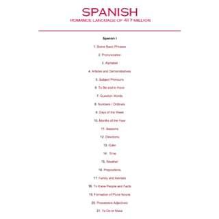 Learning Spanish: Romance Language of 417 Million eBook