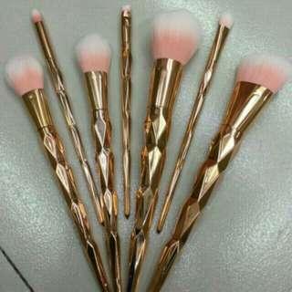 7pcs Unicorn Rosegold Brush