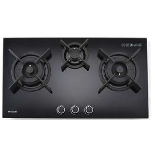 BRANDT TG1483B 80CM 3 BURNERS GAS HOB
