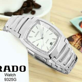 NEW MODEL!!  Watch RADO Series 9325G Semipremium Material Rantai Stainles stell Diameter 2,5x3cm Tgl active Include box  Ready 4 Colours Harga 230rb..