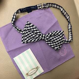 Nicolas & bears 格仔bow呔紫色袋巾