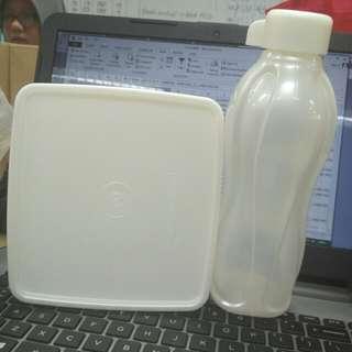 Tupperware 1 Set Kotak Makan & Botol Minum 500ml