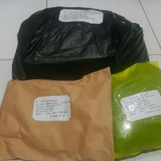 shipping tengkiu sistaa😘😘😘pick up by easy parcel