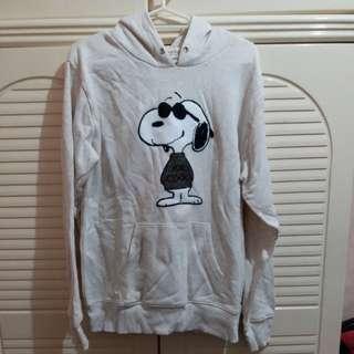 全新 女裝 Peanuts 棉料有帽上衣 衫長25.25寸 闊19寸 袖長23寸 大碼 size L 日本購買