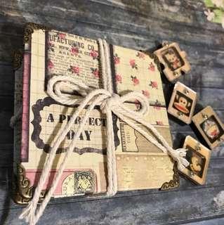 Mini handmade flipbook journal notebook