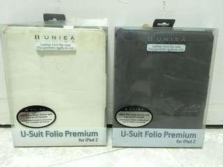 全新 Uniea leather hard flip for iPad 2