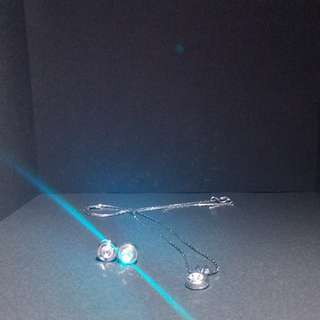 Silver Jewellery Set (Earrings and Necklace)