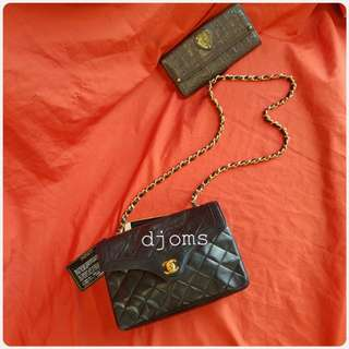VINTAGE CHANEL GHW MINI SINGLE FLAP LAMBSKIN QUILTED CHAIN BAG