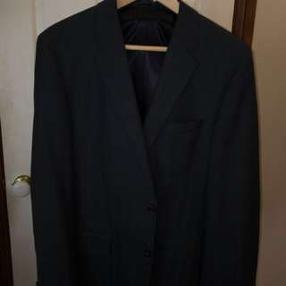 HUGO BOSS very dark grey suit