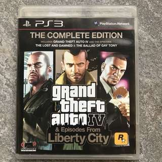 PS3 GTA IV Grand Theft Auto IV Complete Edition