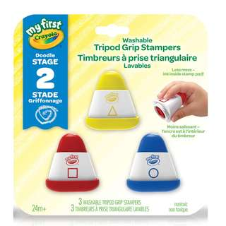 CRAYOLA: My First Crayola Washable Tripod Grip Stampers (811383)