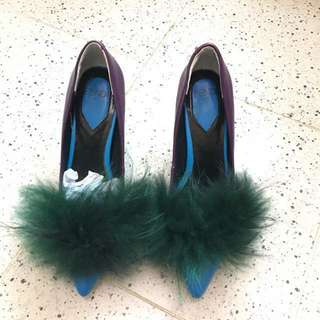"Authentic FENDI "" Bugs"" Pointy Toe Pumps."