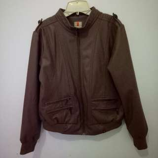 Jaket leather kulit