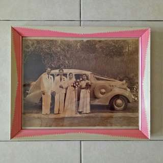 Vintage Frame And Photo size 27x33cm condition 8/10