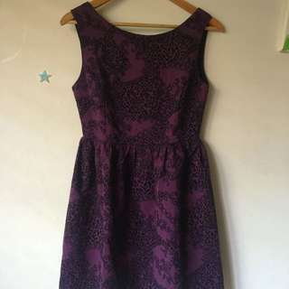 Purple floral dress