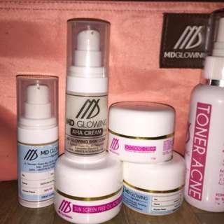 MDGlowing Paket Acne R2 + soothing +AHA +Toner