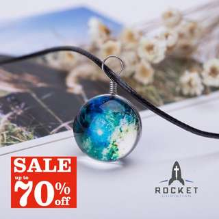 Outerspace Sun Crystal Ball Necklace *In Stock