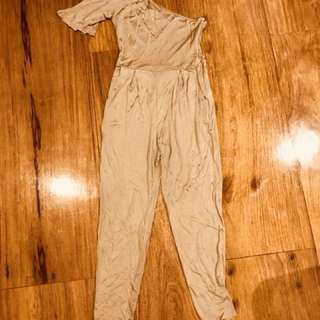 Gold one sided jumpsuit