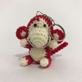Red Monkey Keychain