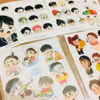 EXO Fanartist stickers (can be bought by set)