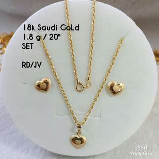 """PAWNABLE 20"""" Chain w/ Pendant & EARRING"""