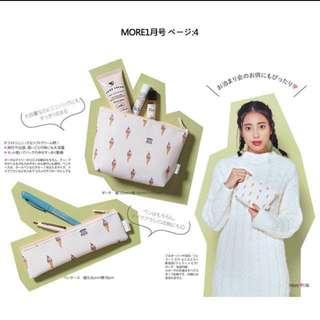 可換物 日本冰淇淋化妝包筆袋兩件組🍦