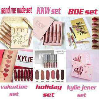 kylie matte liquid lipstick set