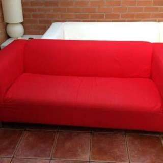 Ikea Red Sofa