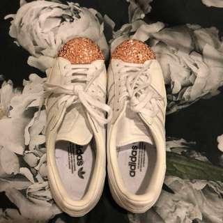 Adidas superstars with metal toe