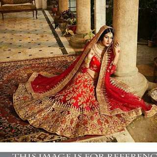 Fancy thread work with dori work & handwork wedding lehenga choli