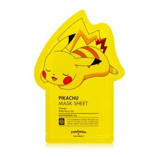 Pikachu Tony Moly Pokemon Cute Mask - ORIGINAL, BRAND NEW Never opened Bought from Korea! 100% authentic face beauty mask, great for gifts! Moisturising honey
